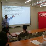 Sanjeev Gupta speaking on Cyber Security